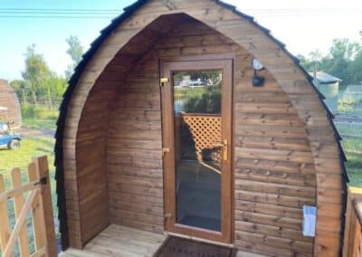 Exterior view of glamping pod